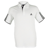 ADIDAS Boys` Club Tennis Polo White and Black