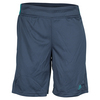 ADIDAS Boys` Barricade Tennis Short Mineral Blue and EQT Green