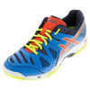 ASICS Men`s Gel-Game 5 Tennis Shoes Methyl Blue and Orange