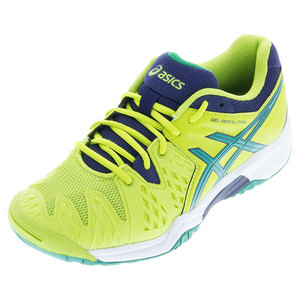 Juniors` Gel-Resolution 6 Tennis Shoes Lime and Pine