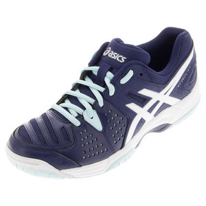 Women`s Gel-Dedicate 4 Tennis Shoes Indigo Blue and White