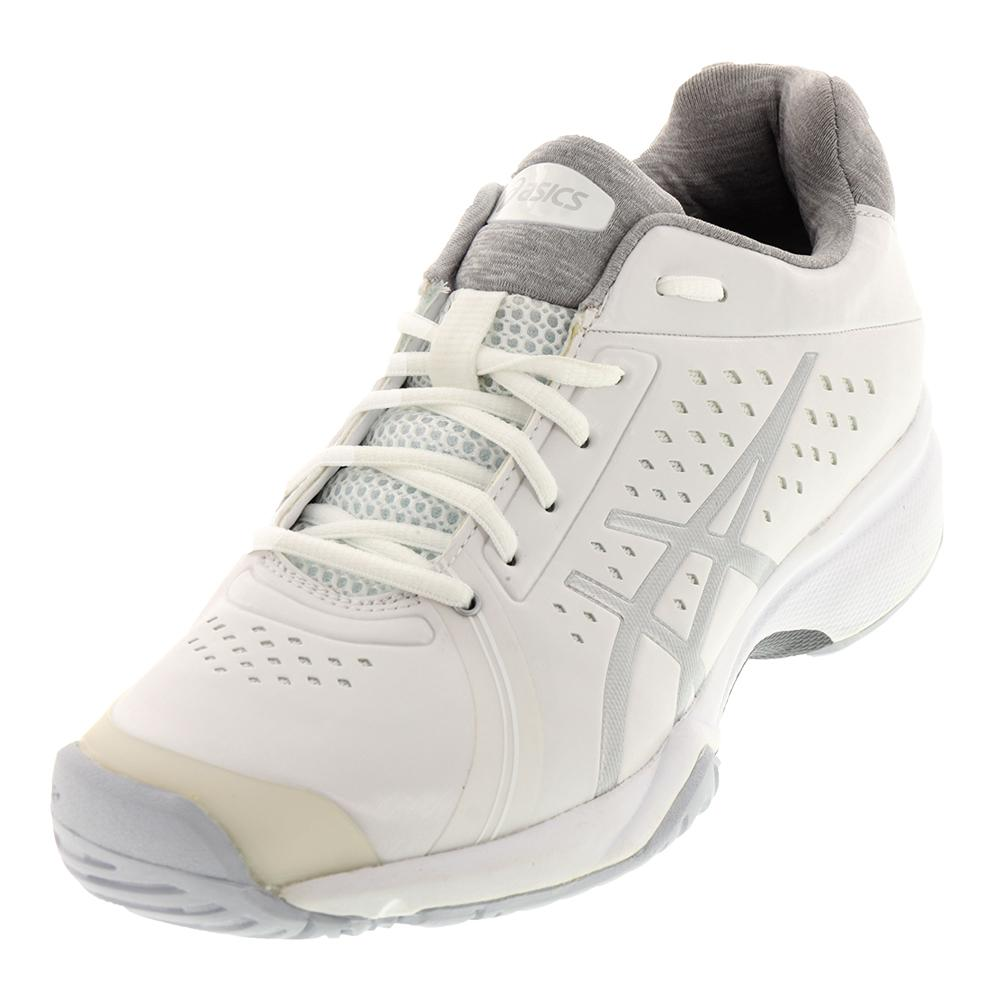 Women's Gel- Court Bella Tennis Shoes White And Silver