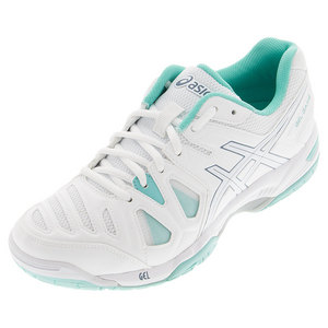 Women`s Gel-Game 5 Tennis Shoes White and Pool Blue