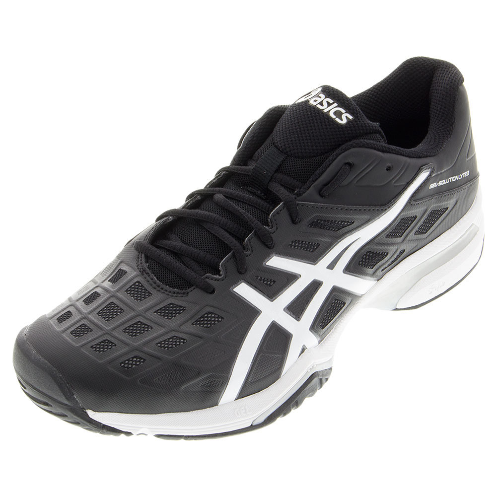 s gel solution lyte 3 tennis shoes black and white ebay
