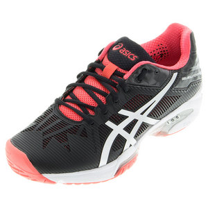 Women`s Gel-Solution Speed 3 Tennis Shoes Black and Diva Pink