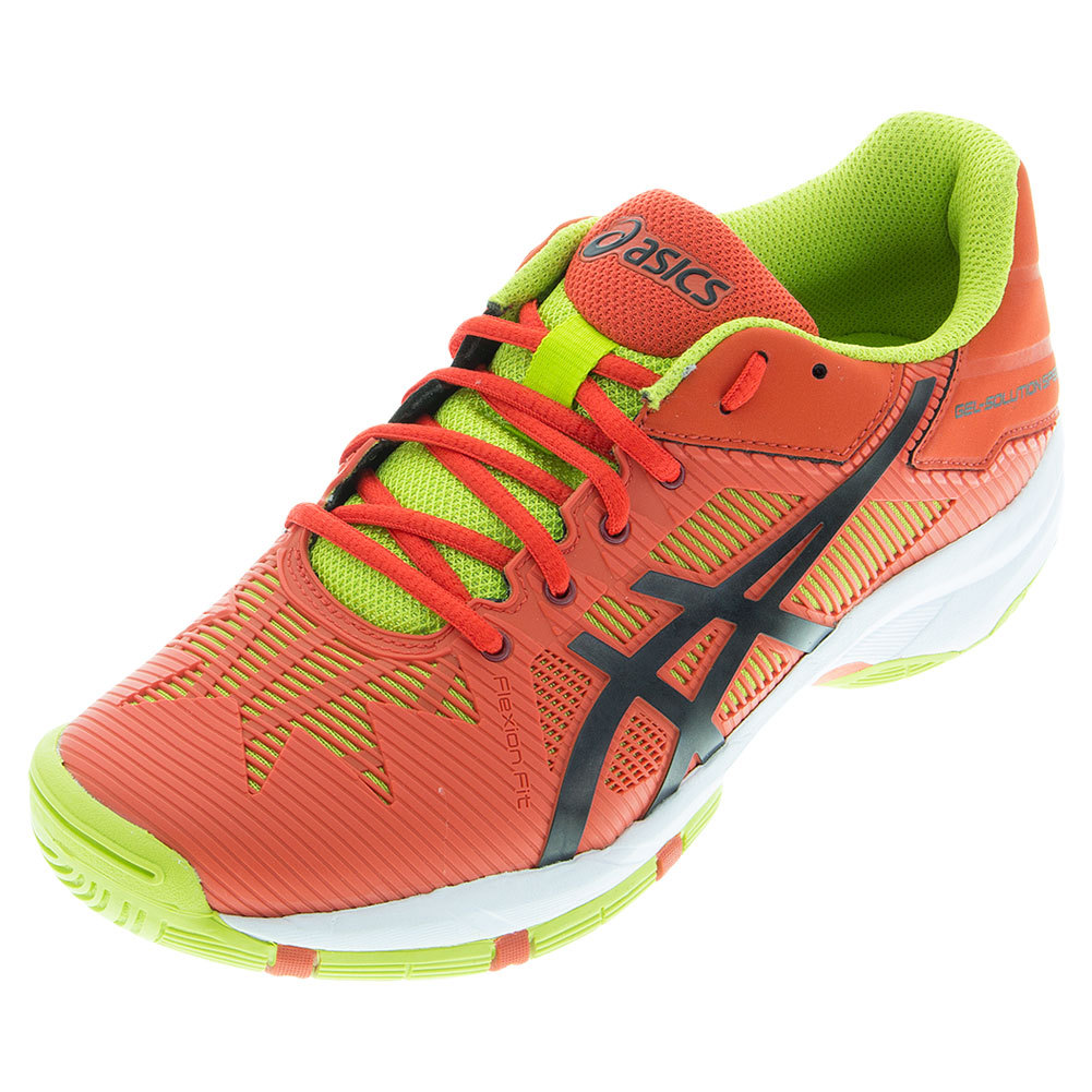 Juniors ` Gel- Solution Speed 3 Tennis Shoes Orange And Black