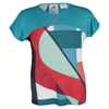 ADIDAS Girls` Adizero Tennis Tee Shock Green and Shock Red