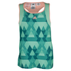ADIDAS Girls` Club Trend Tennis Tank Green Glow and Sun Glow