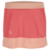 ADIDAS Girls` Court Tennis Skort Shock Red and Sun Glow