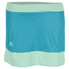 ADIDAS Girls` Court Tennis Skort Shock Green and Green Glow