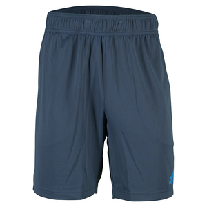 Men`s Barricade Climachill 7.5 Inch Tennis Short Mineral Blue and Shock Blue