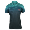 ADIDAS Men`s Adizero Tennis Polo Shock Green and Mineral Blue