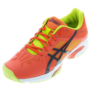 Men`s Gel-Solution Speed 3 Tennis Shoes Orange and Lime