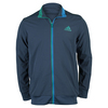 ADIDAS Men`s Barricade Tennis Jacket Mineral Blue