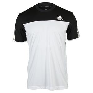 Men`s Club Tennis Tee White and Black