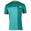 Men`s Club Trend Tennis Tee Shock Green and EQT Green by ADIDAS