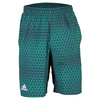 ADIDAS Men`s Club Trend Bermuda Tennis Short Mineral Blue and EQT Orange