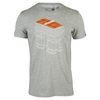 ADIDAS Men`s Roland Garros Secret Court Graphic Tennis Tee Medium Gray Heather