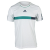 ADIDAS Men`s Barricade Tennis Tee White