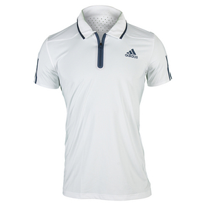 adidas MENS BARRICADE TENNIS POLO WHITE