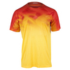 ADIDAS Men`s Adizero Tennis Tee Solar Gold and Power Red