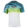 ADIDAS Men`s Adizero Tennis Tee White and Mineral Blue