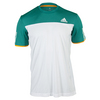 ADIDAS Men`s Club Tennis Tee White and EQT Green