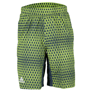 Men`s Club Trend Bermuda Tennis Short Shock Green and Semi Solar Slime