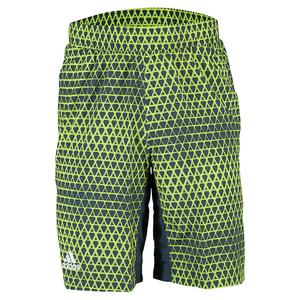 Men`s Club Trend Bermuda Tennis Short Shock Green and Semi Solar Slime