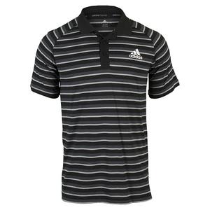 adidas MENS CLUB PRIME TENNIS POLO BLACK/WHITE