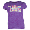 LOVEALL Girls` Tennis Print Tee Purple