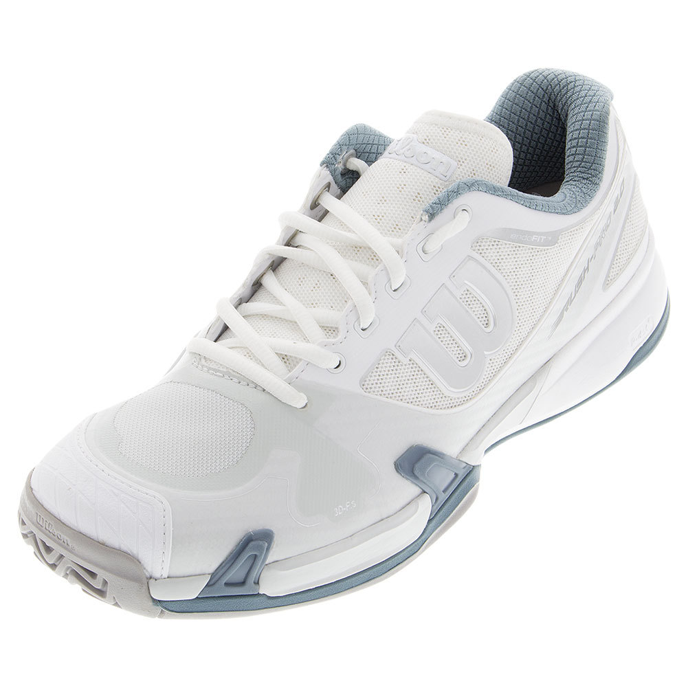 Men's Rush Pro 2.0 Tennis Shoes White And Ice Gray