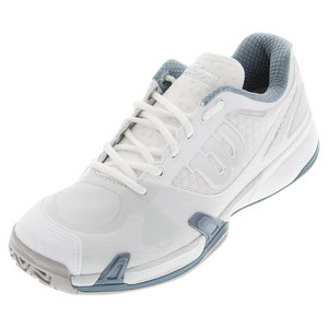 Men`s Rush Pro 2.0 Tennis Shoes White and Ice Gray