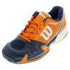 WILSON Men`s Rush Pro 2.0 Tennis Shoes Clementine and Navy