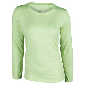 Women`s Simona Long Sleeve Tennis Top Maui Lemon