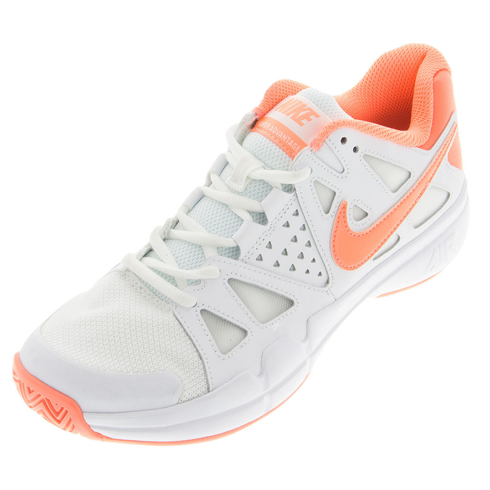 Women's Air Vapor Advantage Tennis Shoes White And Atomic Pink