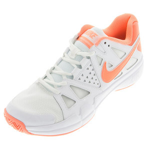 Women`s Air Vapor Advantage Tennis Shoes White and Atomic Pink
