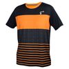 ATHLETIC DNA Men`s Stripes Match Tennis Crew Papaya
