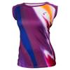 ATHLETIC DNA Women`s Blur Empower Cap Sleeve Tennis Top Magenta Purple