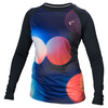 ATHLETIC DNA Women`s Lights Match Long Sleeve Tennis Top Black