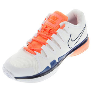 Women`s Zoom Vapor 9.5 Tour Tennis Shoes White and Bright Mango