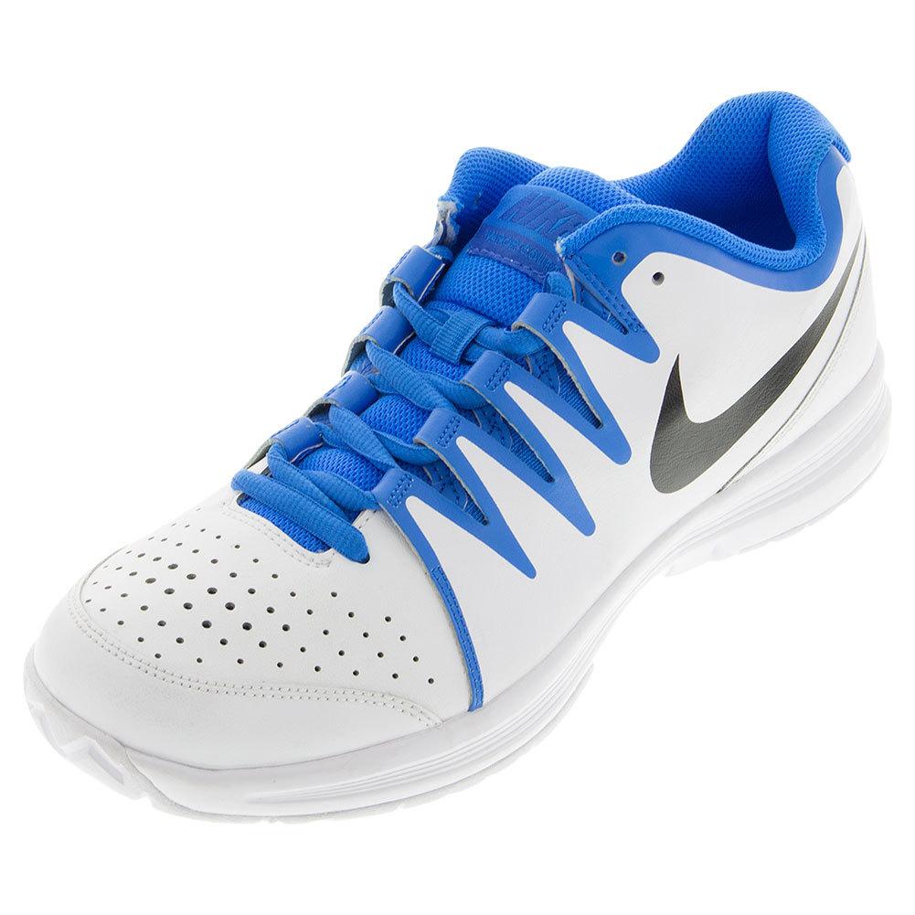 Men's Vapor Court Tennis Shoes White And Photo Blue