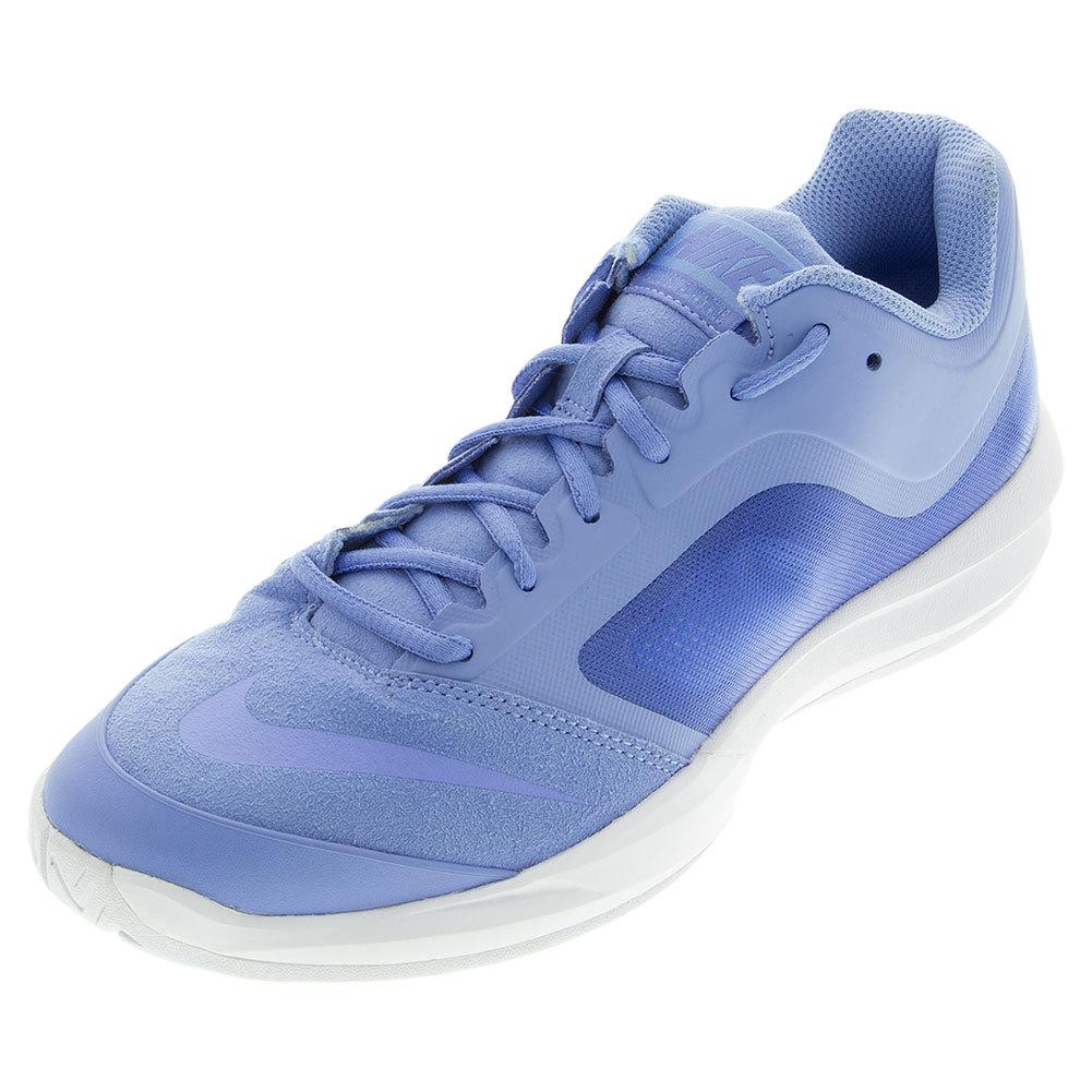 NIKE NIKE Women's Dual Fusion Ballistec Advantage Tennis Shoes Chalk Blue  And White