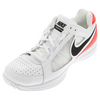 NIKE Men`s Air Vapor Ace Tennis Shoes White and Bright Crimson