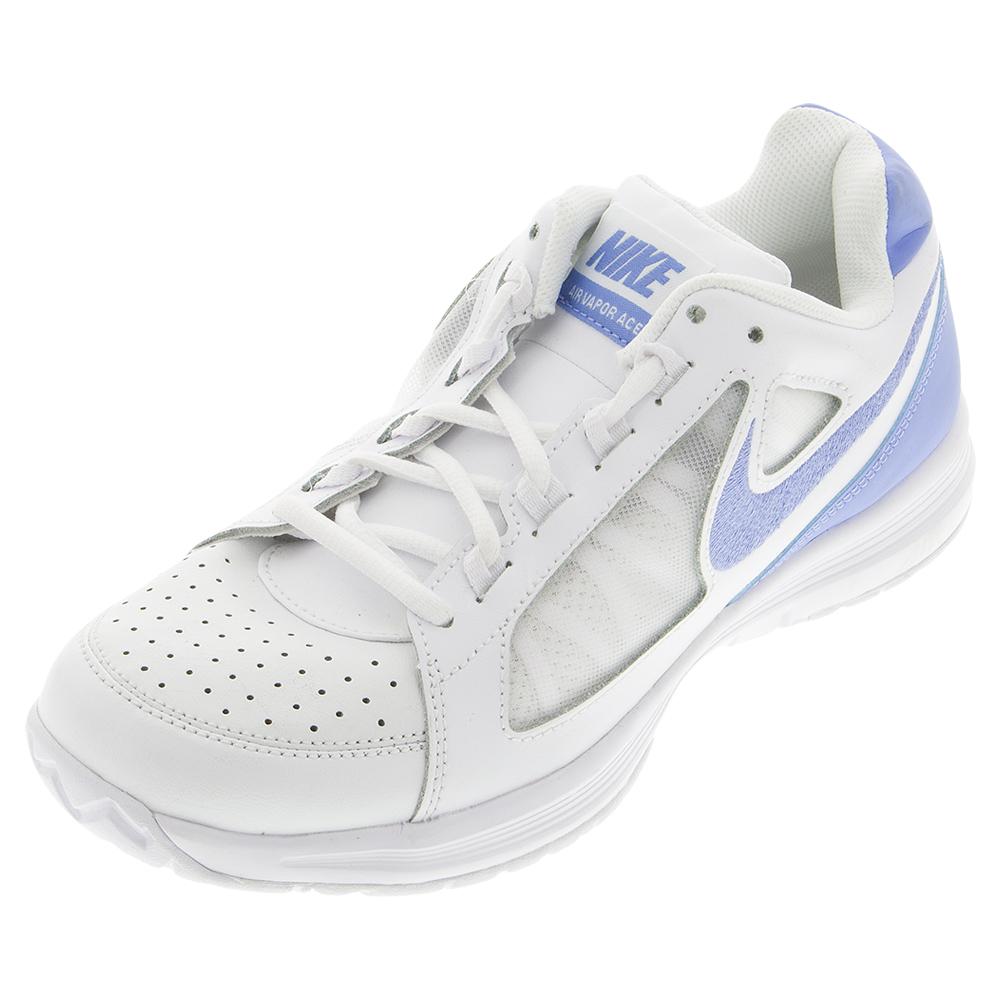 Women's Air Vapor Ace Tennis Shoes White And Chalk Blue