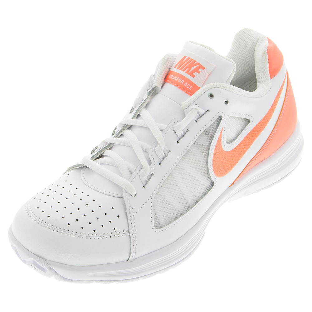 Women's Air Vapor Ace Tennis Shoes White And Bright Mango