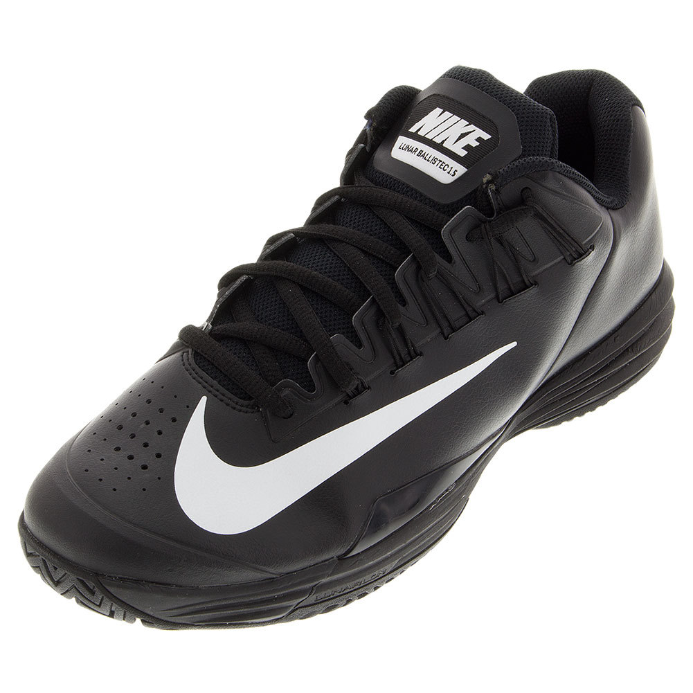 89f853d42f8c Juniors ` Lunar Ballistec 1.5 Tennis Shoes Black And White