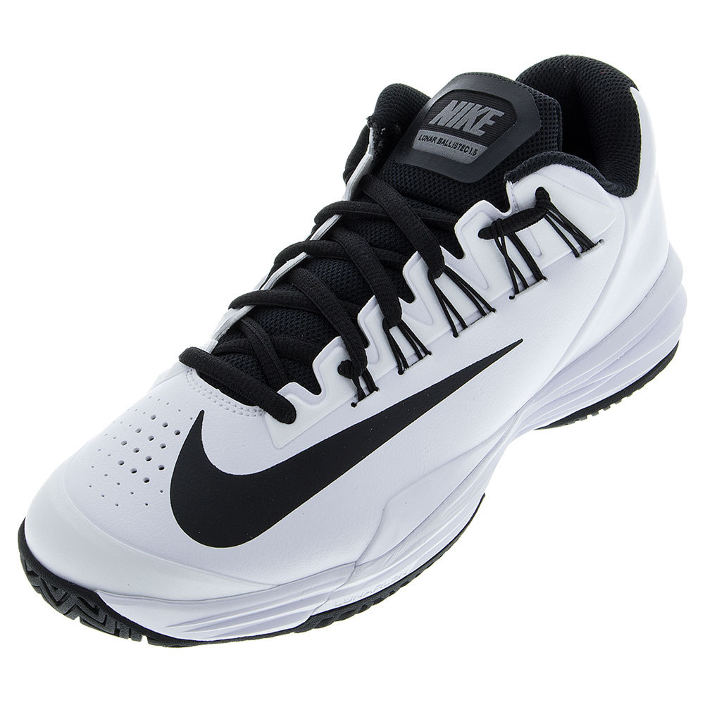 5e8c95addb3c NIKE NIKE Juniors ` Lunar Ballistec 1.5 Tennis Shoes White And Cool Gray