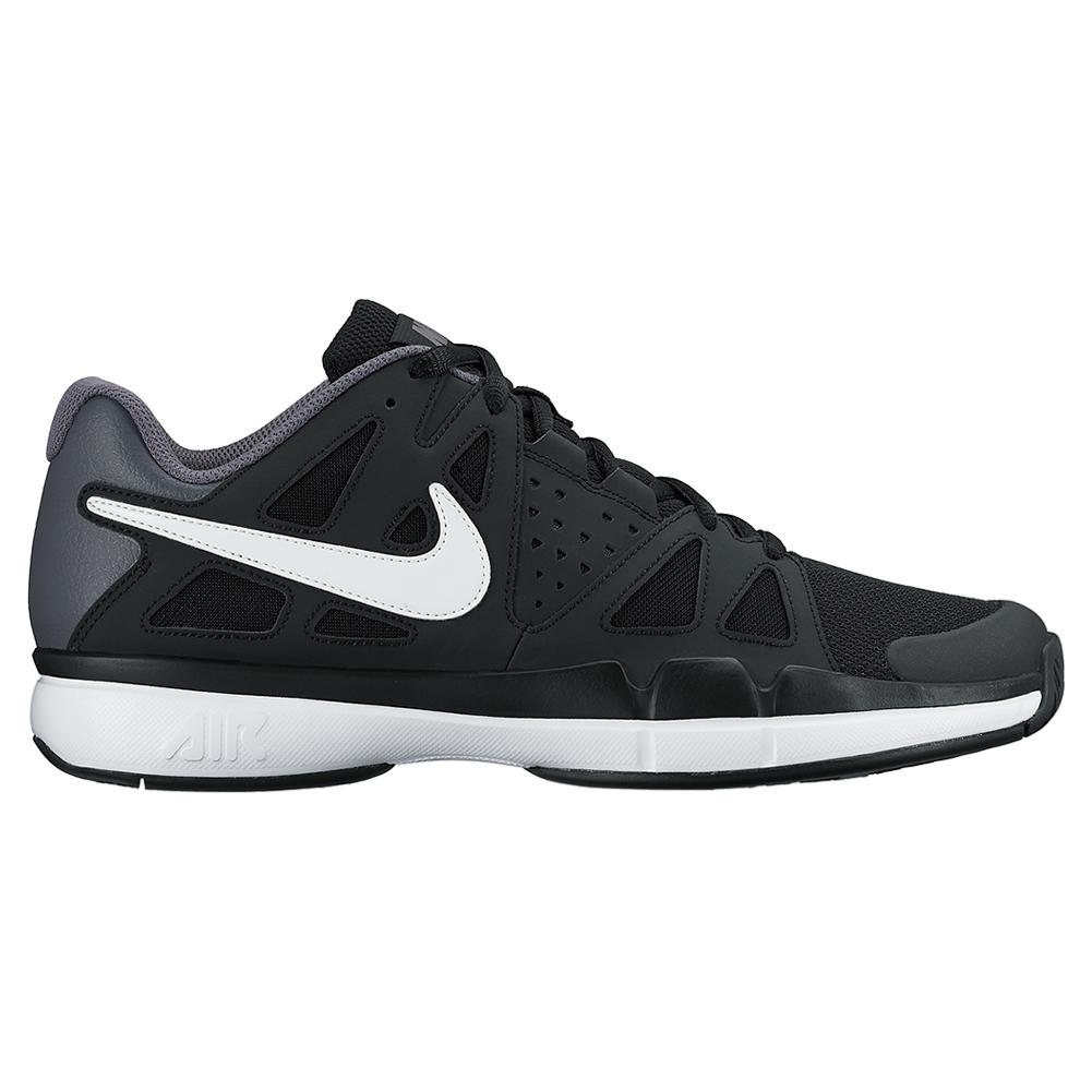 nike juniors air vapor advantage tennis shoes black and