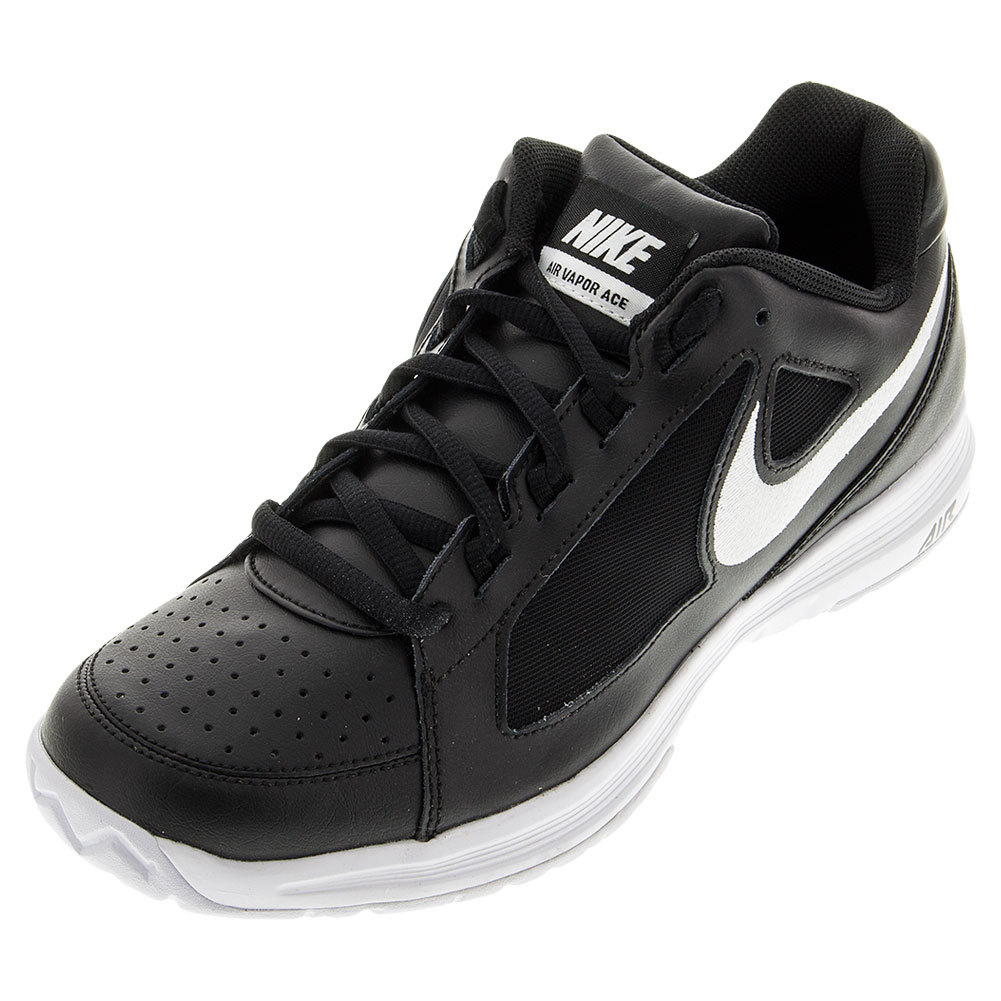 Juniors ` Air Vapor Ace Tennis Shoes Black And White